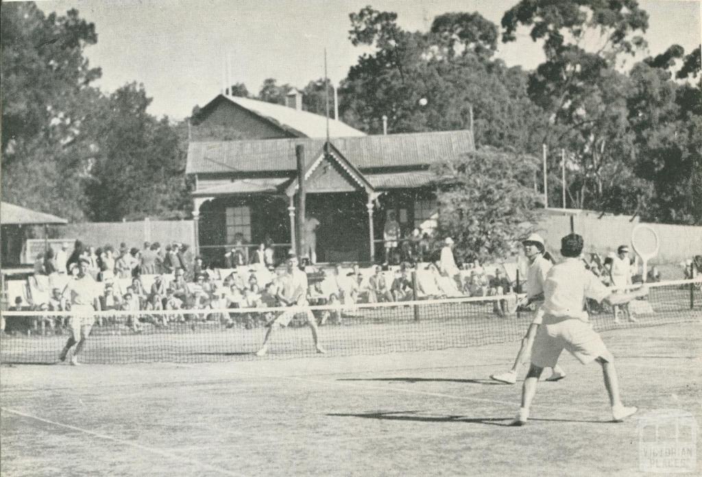 Tennis Club, Victoria Park, Echuca, 1950