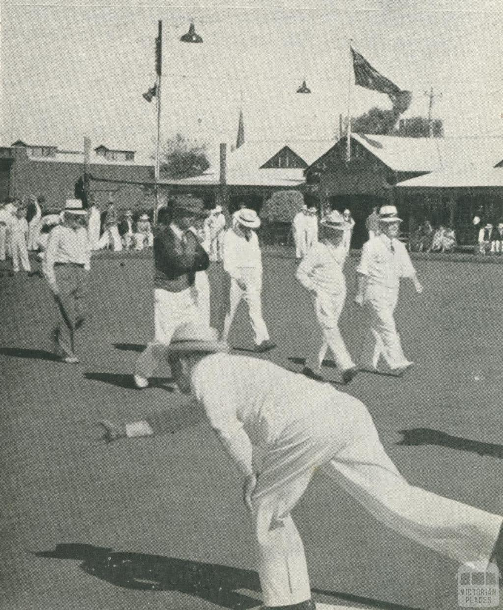 Bowling Club, Annesley Street, Echuca, 1950