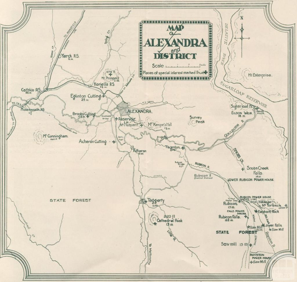 Map Alexandra and district
