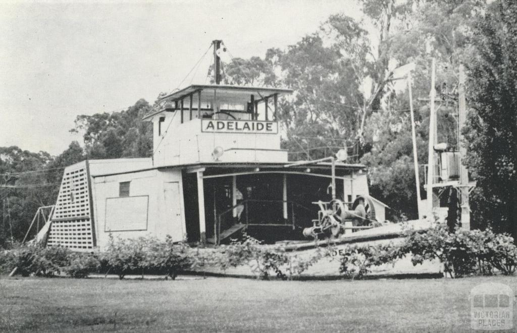 P.S. Adelaide (1866) preserved in Hopwood Gardens, Echuca, 1968
