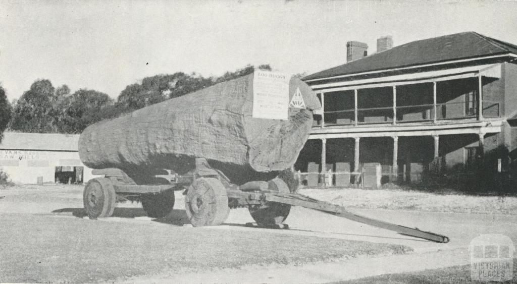 Log Buggy at Hopwood's Bridge Hotel (1858), 1968