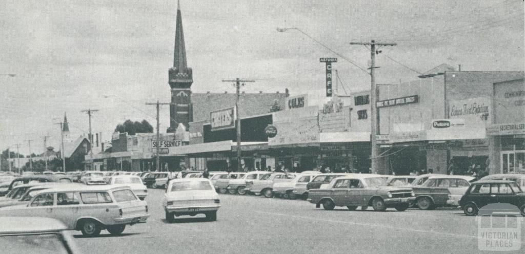 Shopping Centre, Hare Street, Echuca, 1968