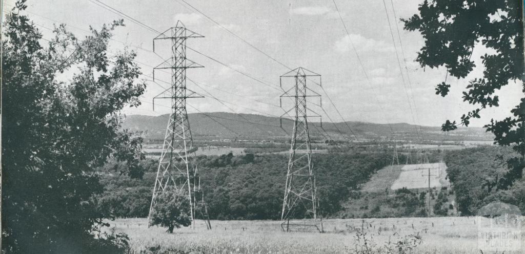 Yallourn-Melbourne electricity transmission lines, 1954