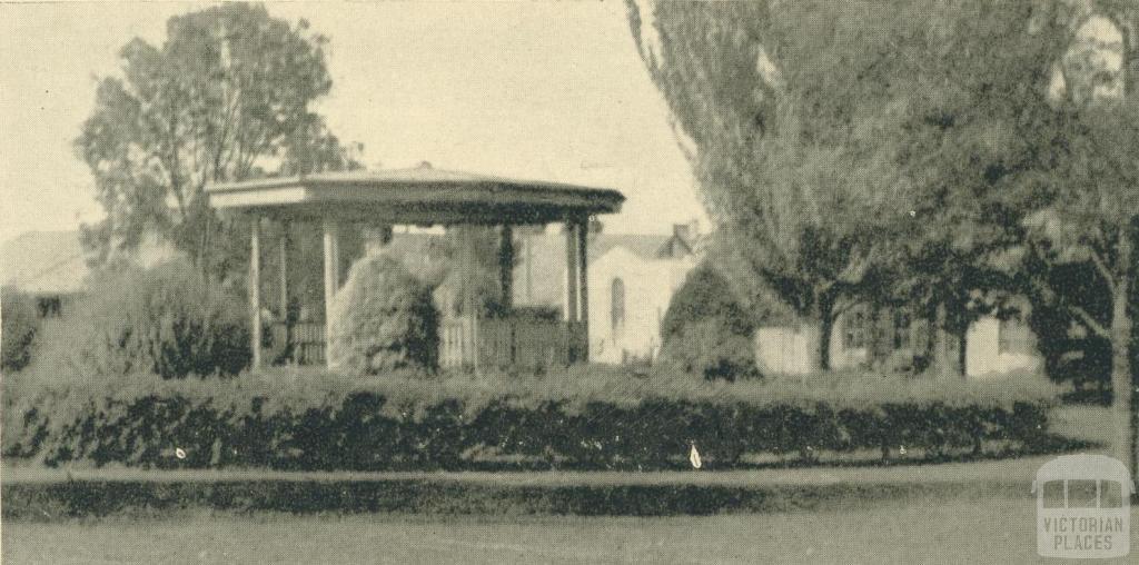 The Band Rotunda Gardens, Yallourn, 1961