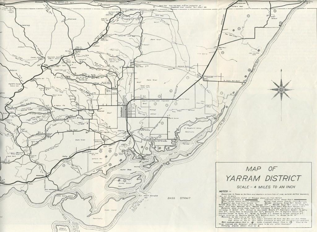 Map of Yarram District, 1933