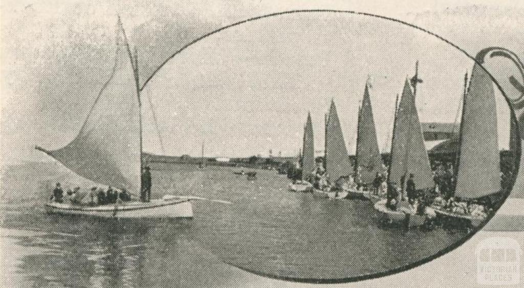 Moyne River, Port Fairy, 1910