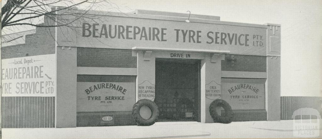 Beaurepaire Tyres, Colac Branch, 1947