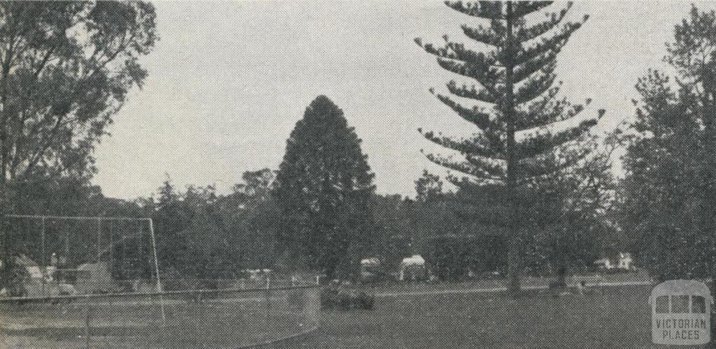 Victoria Park and adjacent Caravan and Camping Park, Echuca, 1961
