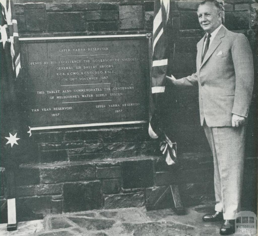 Opening of the Upper Yarra Reservoir, 1958