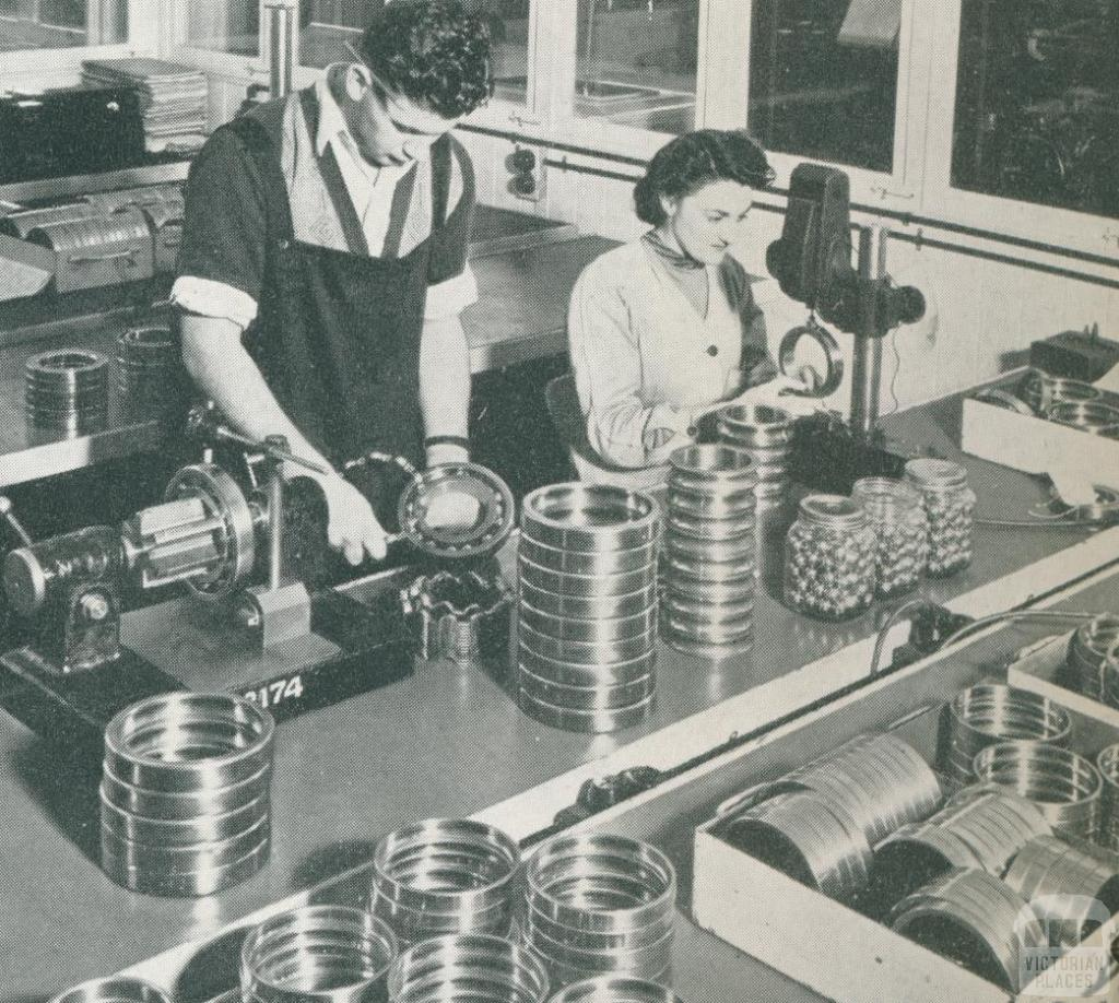 Ball Bearing Production, Echuca, c1952