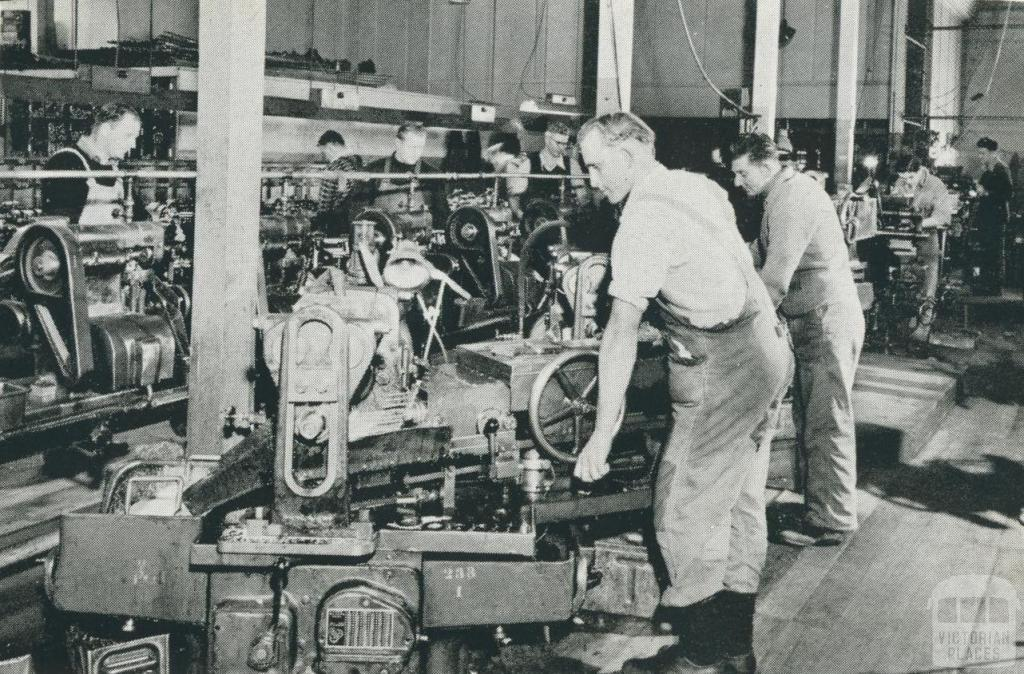 Engineering workshops, Maryborough, 1955