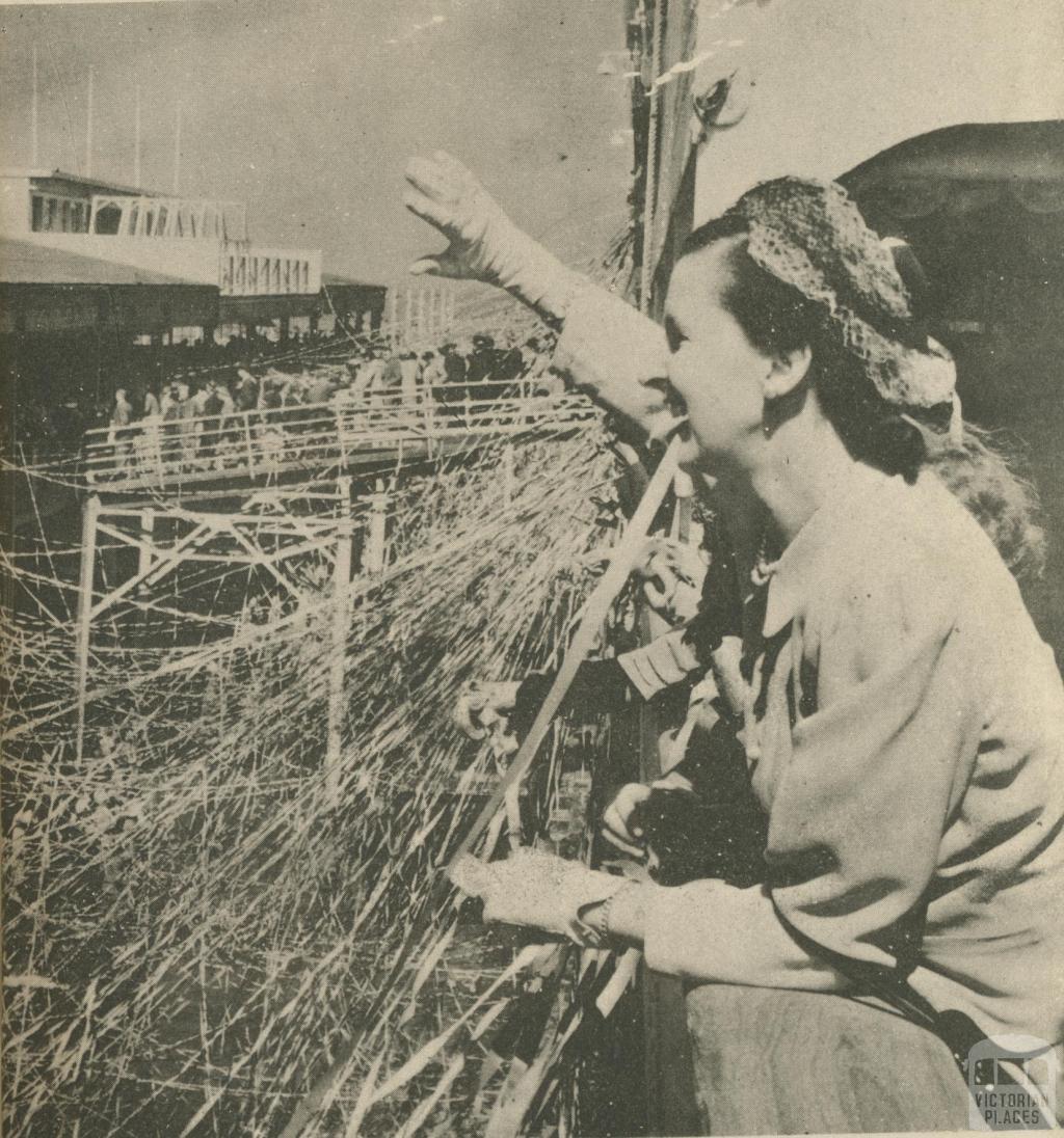Passenger Ship at Port of Melbourne, 1950