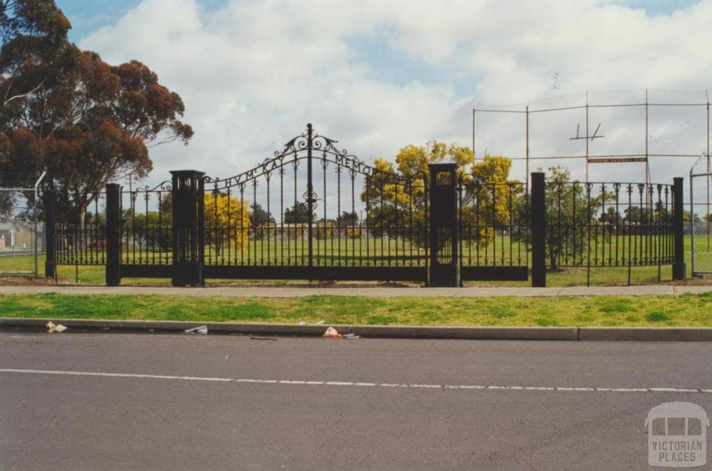 H.V. McKay Memorial Gardens, Barley Reserve, 2000