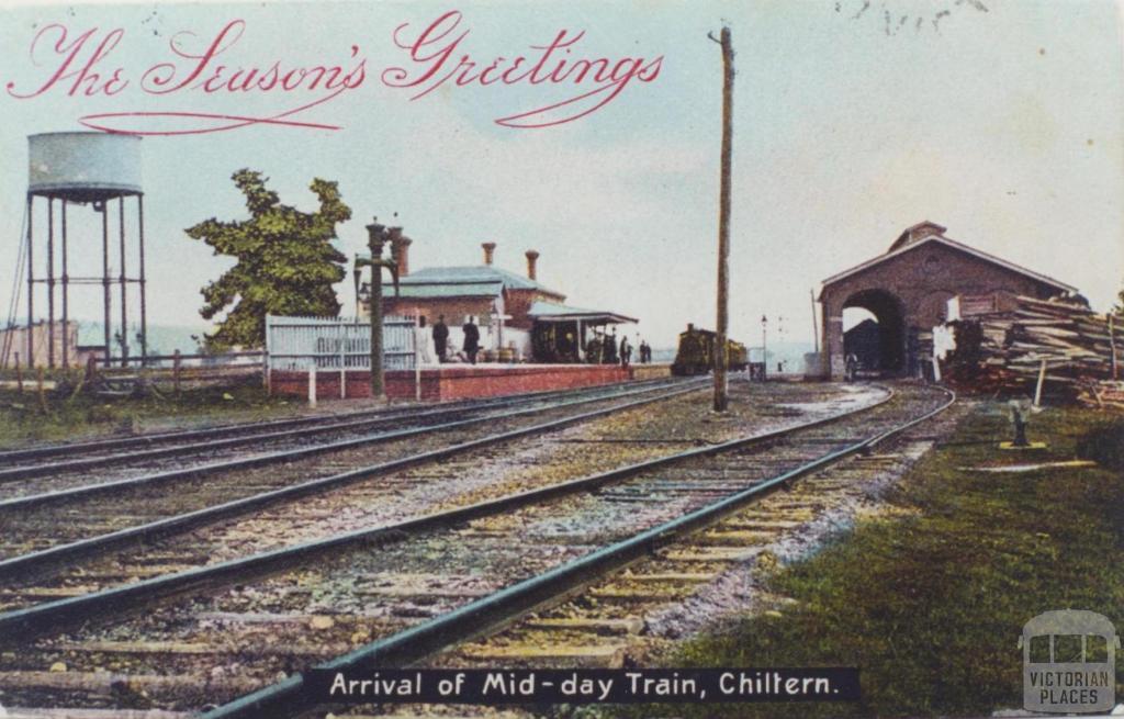 Railway Station, Chiltern, 1906