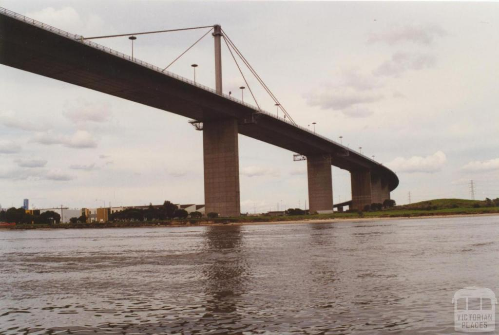 Lower Yarra Crossing, looking east from river, 2000