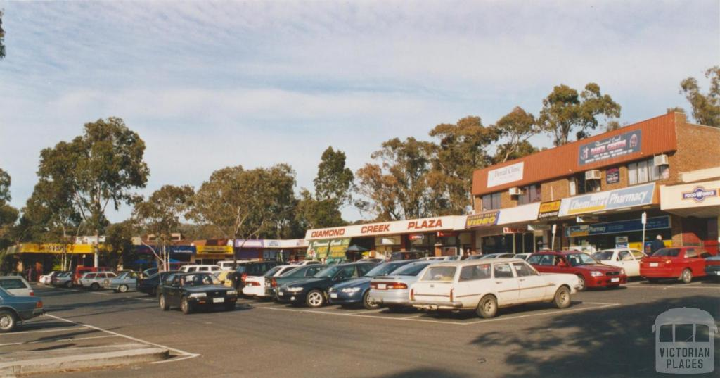 Diamond Creek drive in shopping centre, 2002