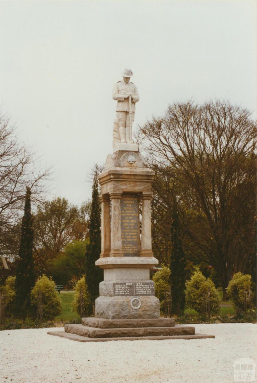 Dunkeld War Memorial, 2002