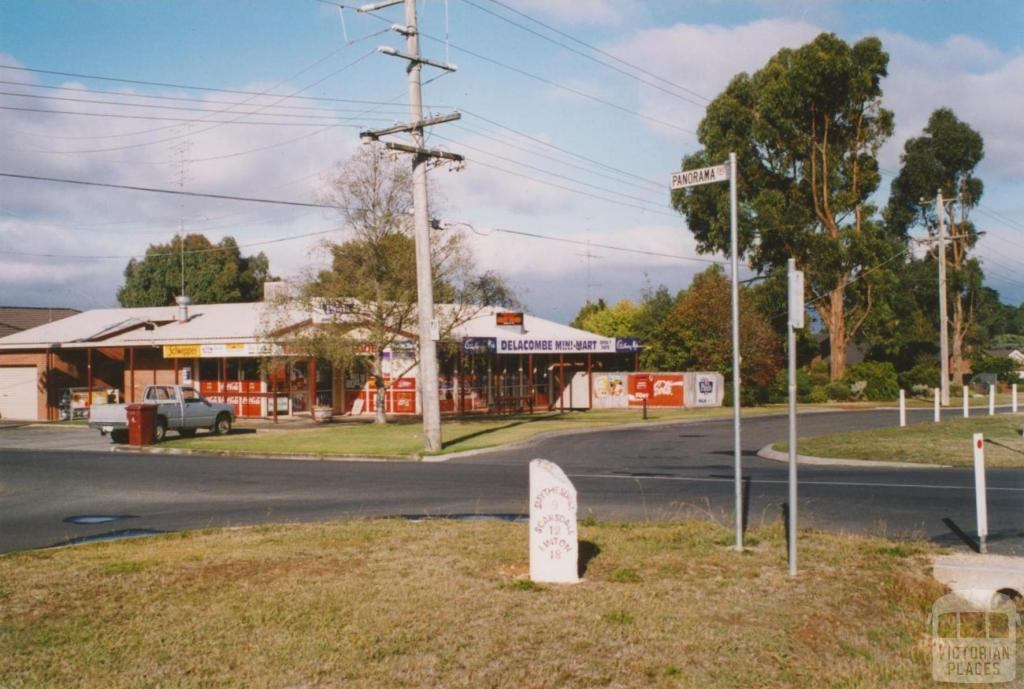 Delacombe and heritage mile post, 2004