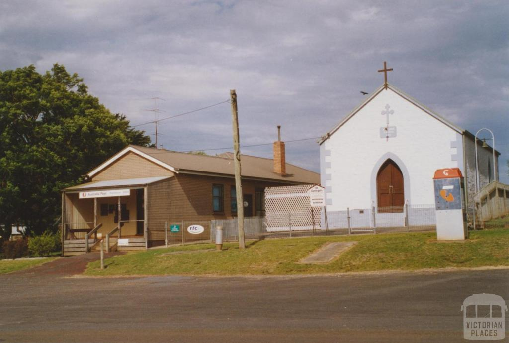 Dartmoor post office and St Georges Church, 2006
