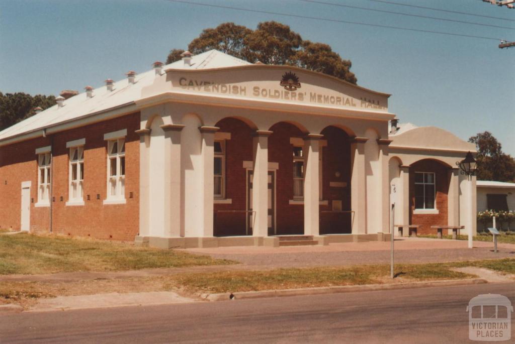 Cavendish Soldiers memorial hall, 2009