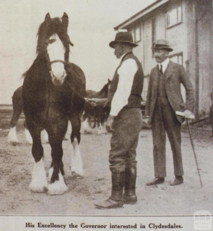 Governor of Victoria, Earl of Stradbroke at Werribee Experimental farm, 1922