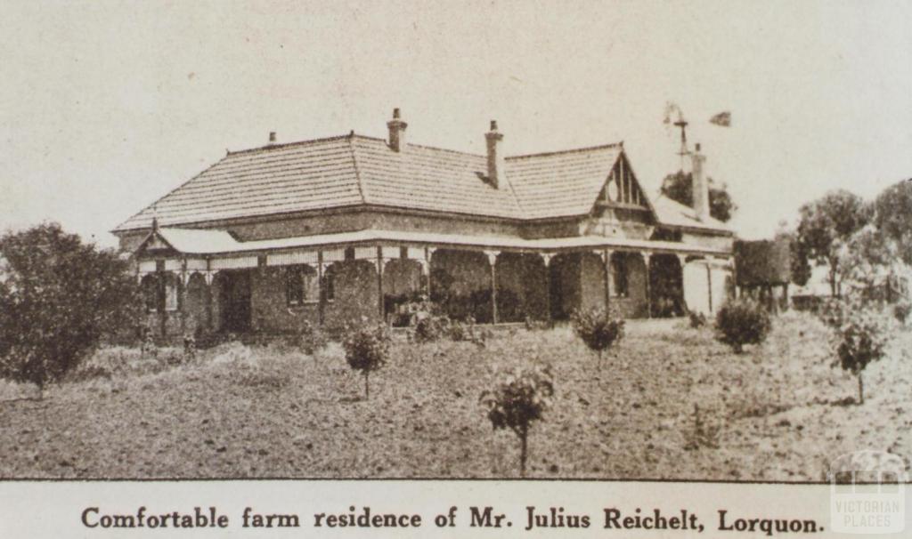 Mr Julius Reichelt's home, Lorquon, 1923
