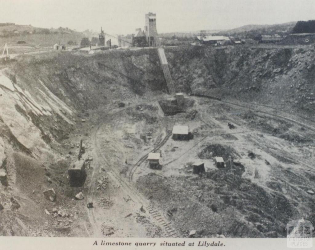 Limestone quarry, Lilydale, 1937