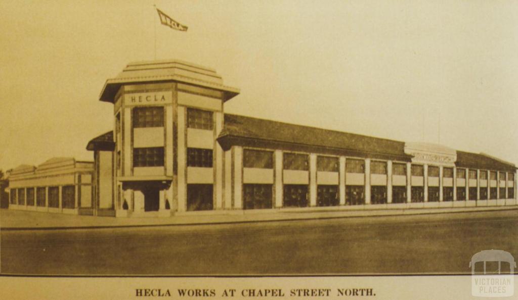Hecla works, Chapel Street North, South Yarra, 1927