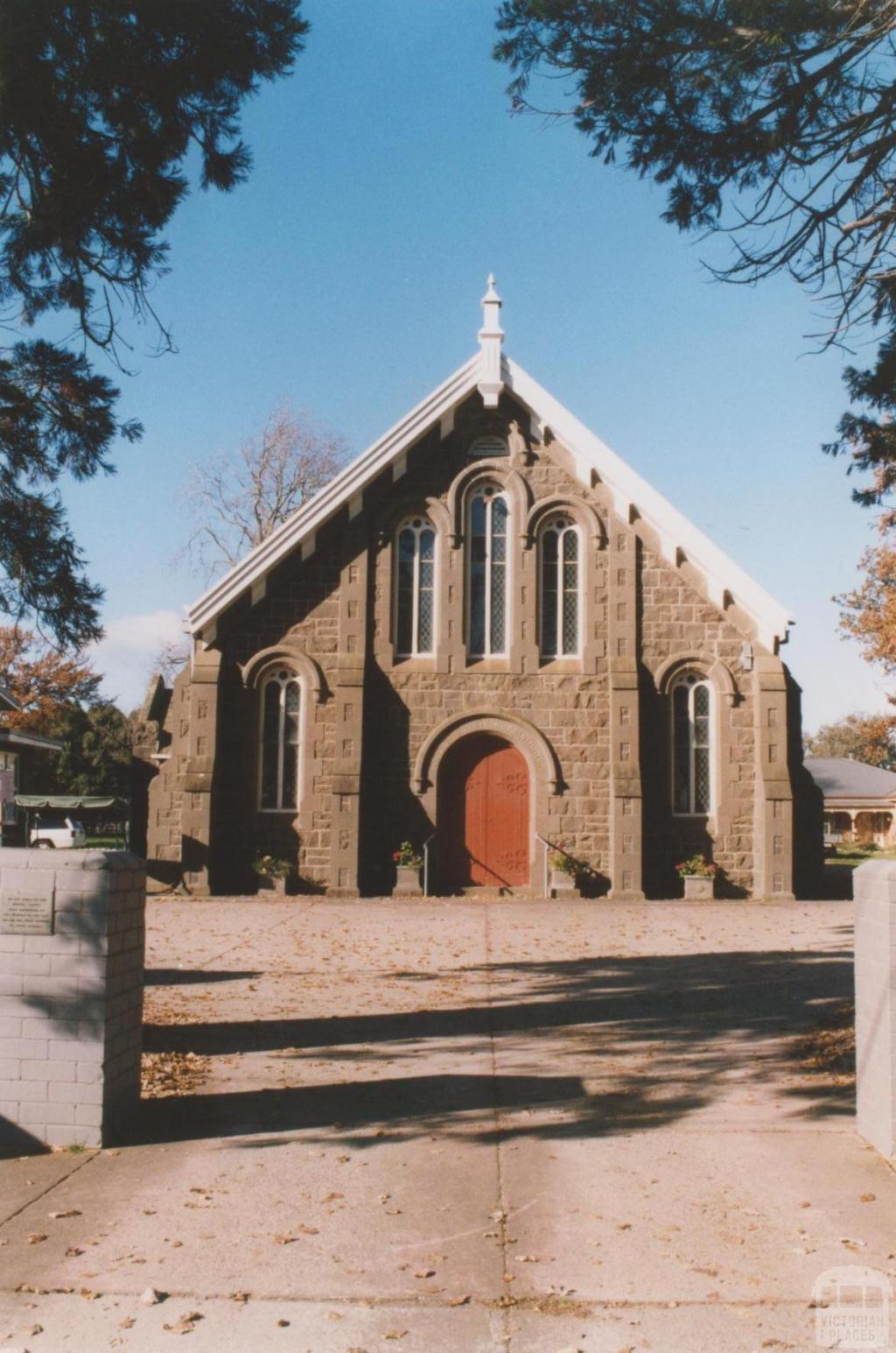Welsh Carmel Presbyterian Church (1861) opposite Vale Street, Sebastopol, 2010