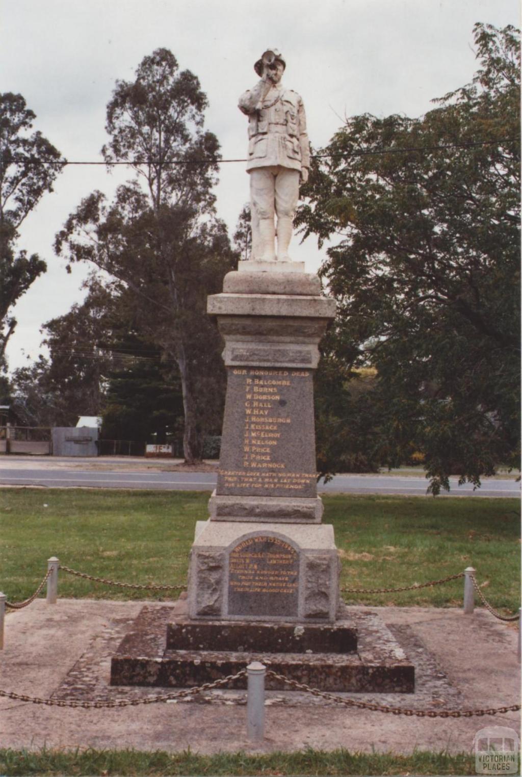 War Memorial, Swanpool, 2012