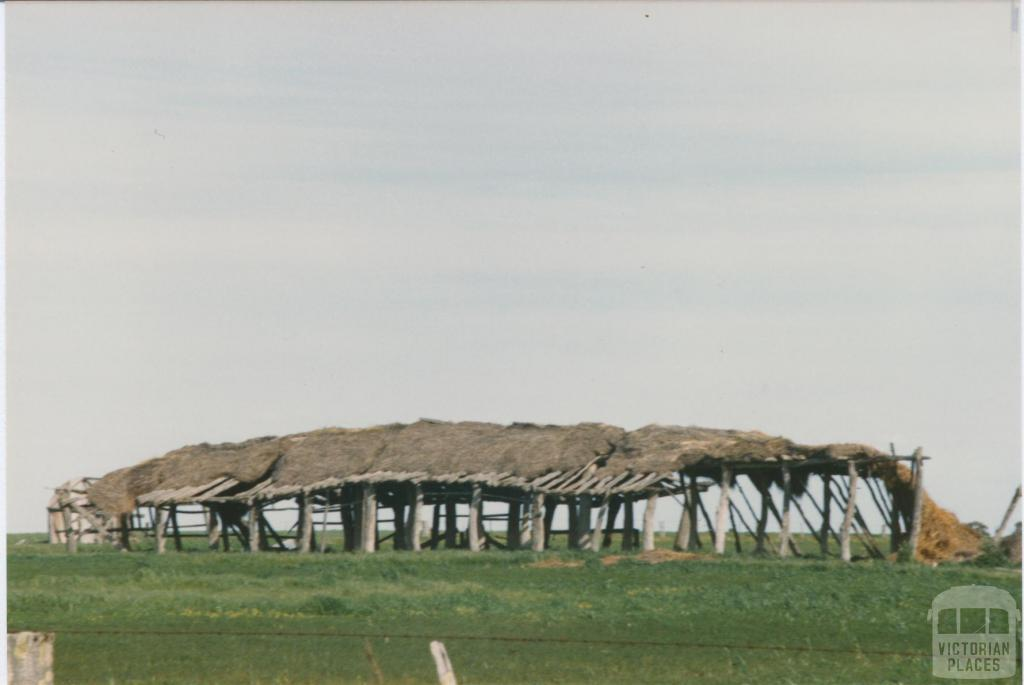 Thatched farm shed, Dimboola, 1980