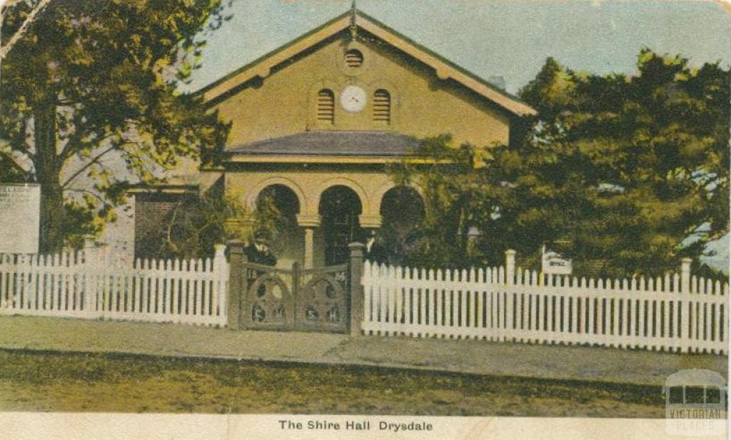 The Shire Hall, Drysdale, 1907