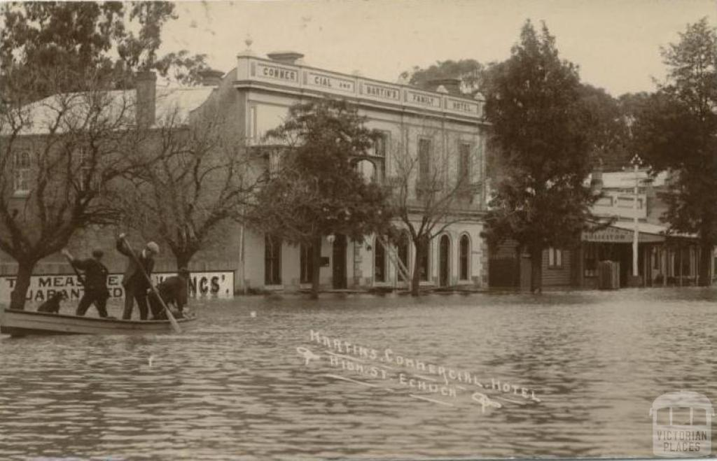 Martin's Commercial Hotel, High Street, Echuca, 1909