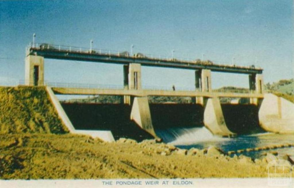 The pondage weir at Eildon