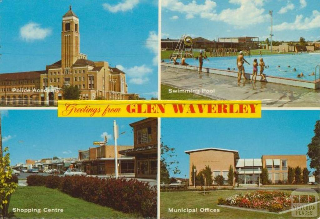 Glen Waverley Police Academy Swimming Pool Municipal Offices Shopping Centre Victorian Places