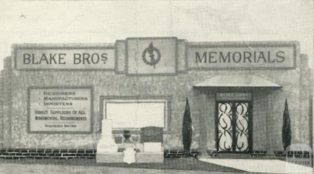 Blake Bros, Memorial, Plenty Road, Kingsbury