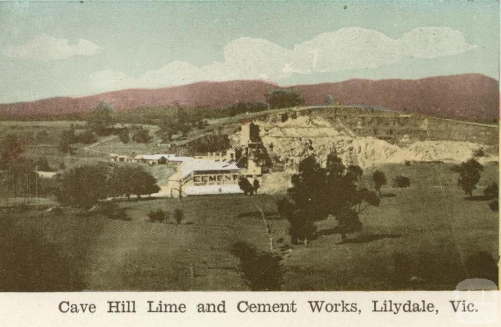 Cave Hill Lime and Cement Works, Lilydale, 1964