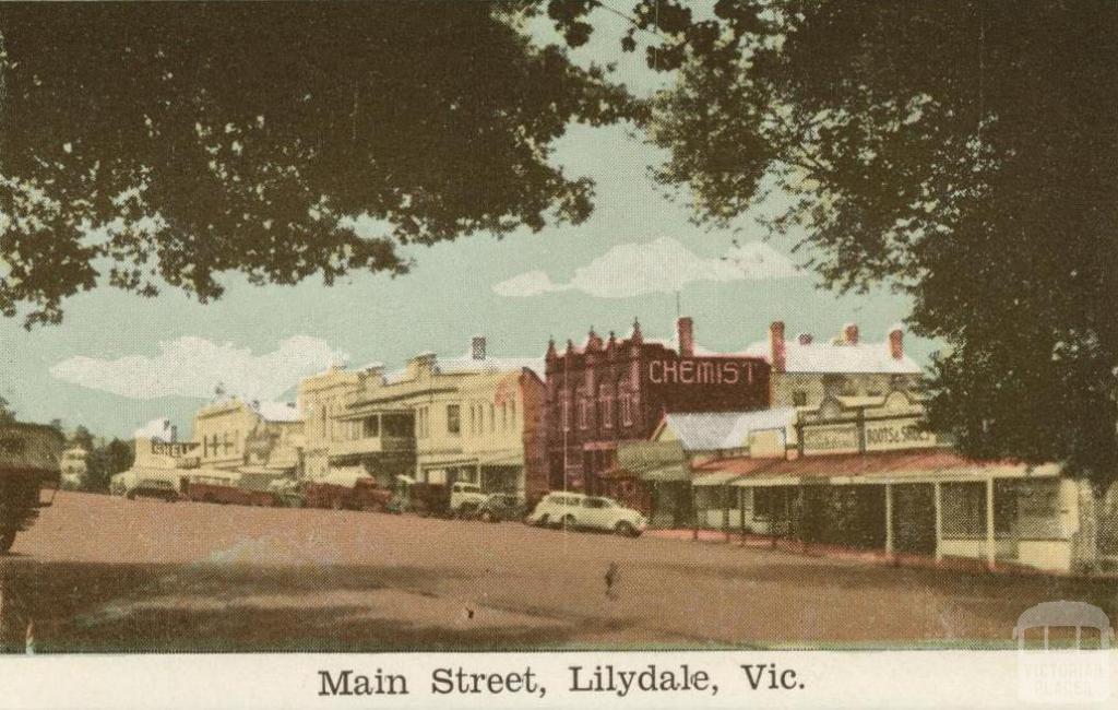 Main Street, Lilydale, 1964