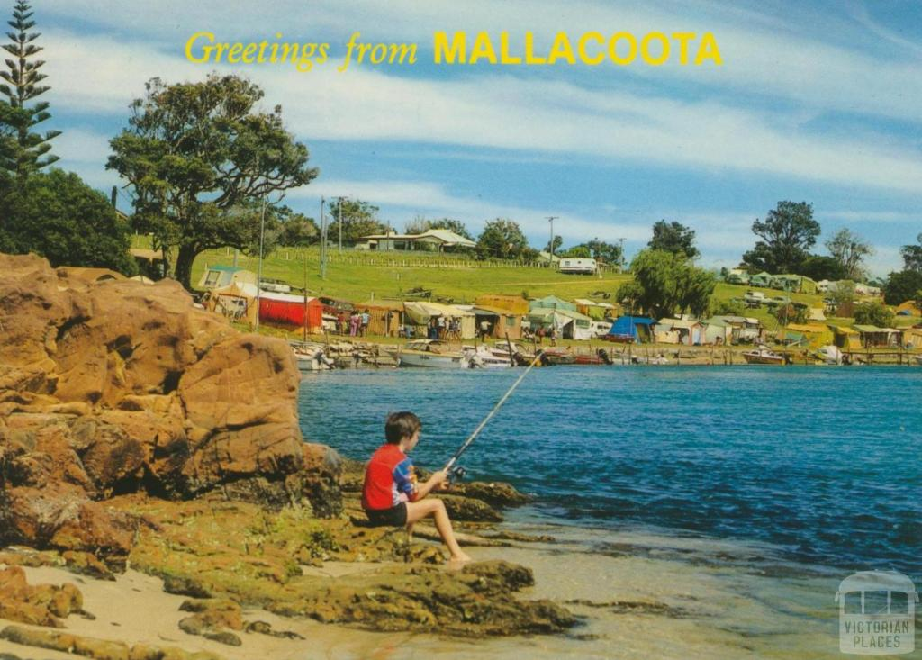 Part of the Foreshore Camp from historic Captain Stevenson's Point, Mallacoota