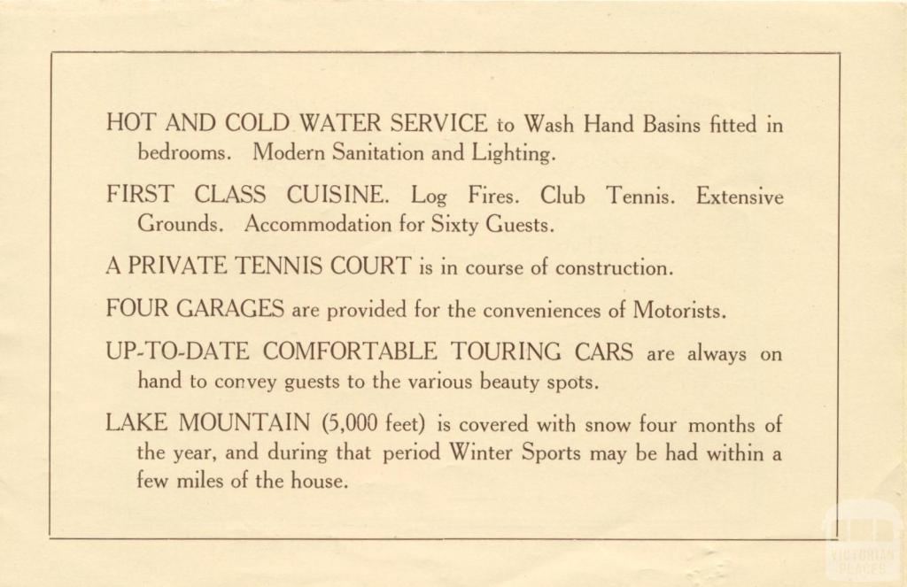 Mount Kitchener House, Marysville, c1925, page 3