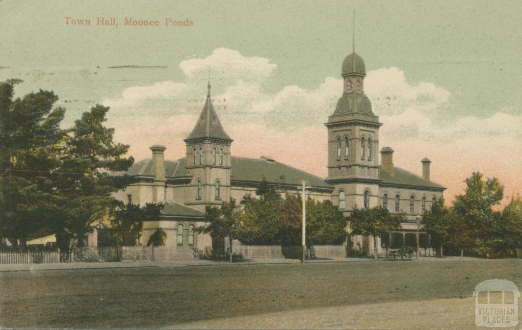 Town Hall, Moonee Ponds, 1908
