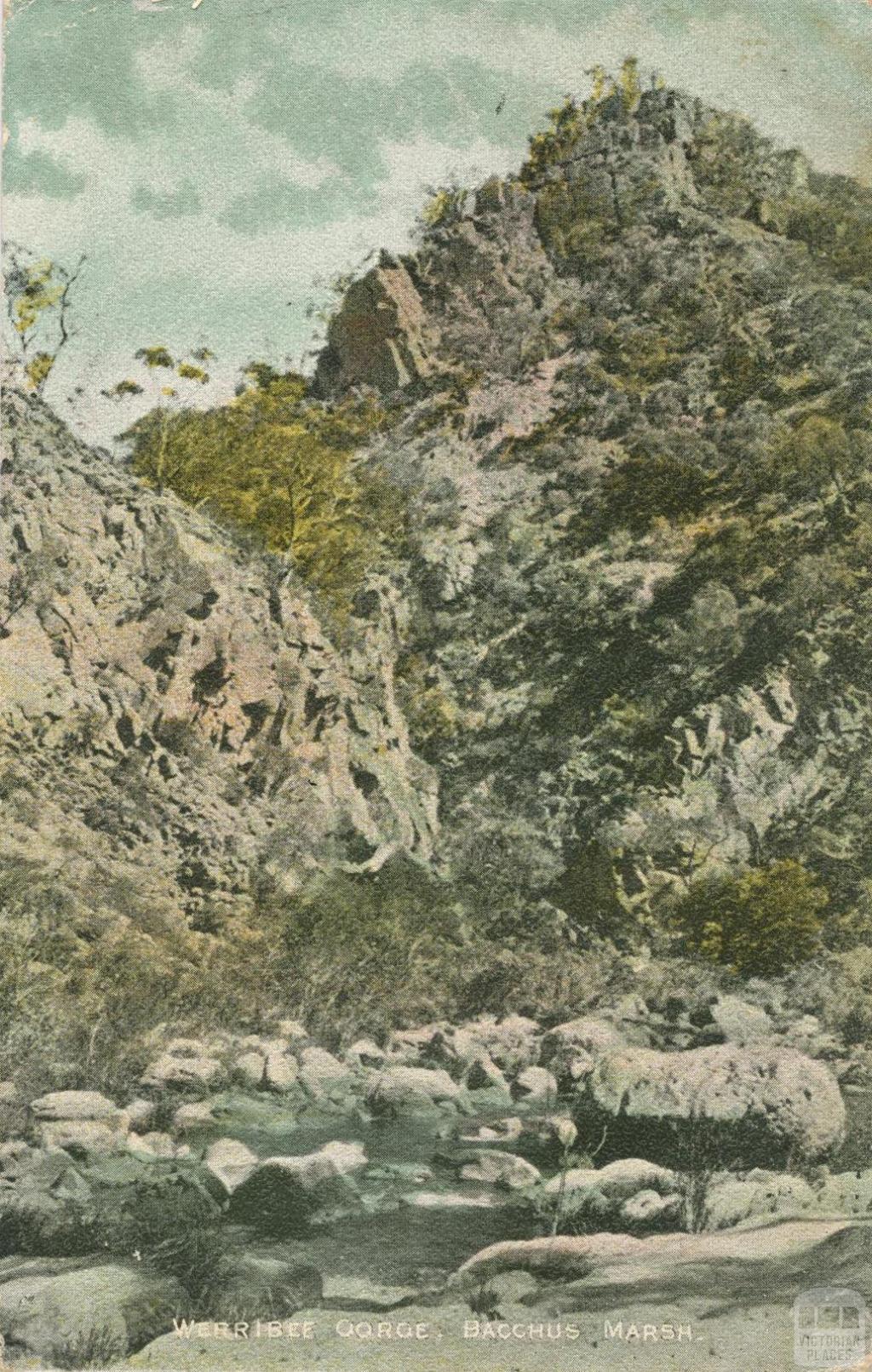 Werribee Gorge, Bacchus Marsh, 1908