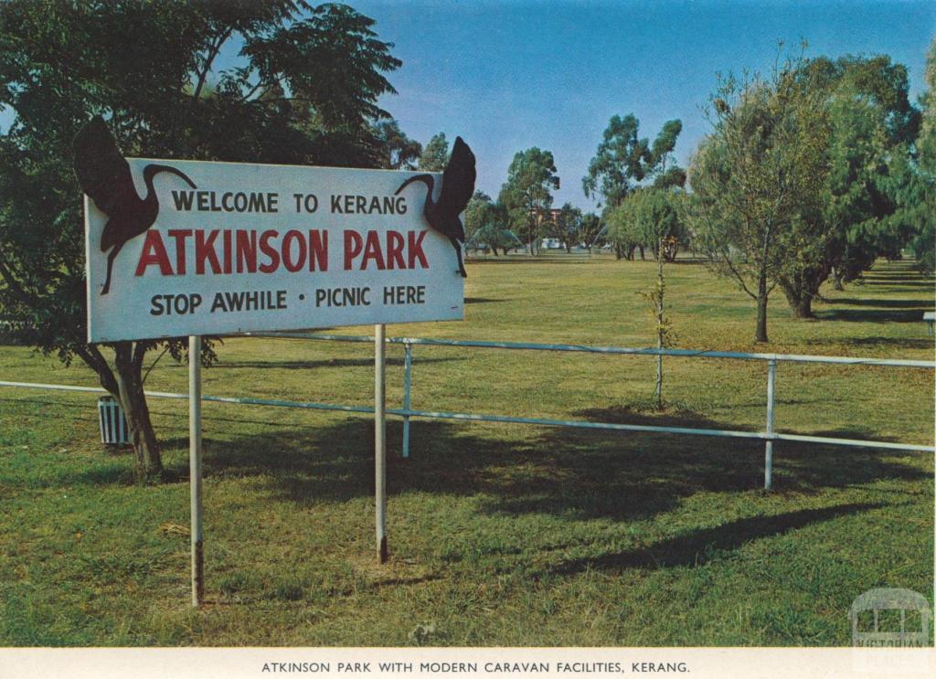 Atkinson Park with Modern Caravan Facilities, Kerang, 1975