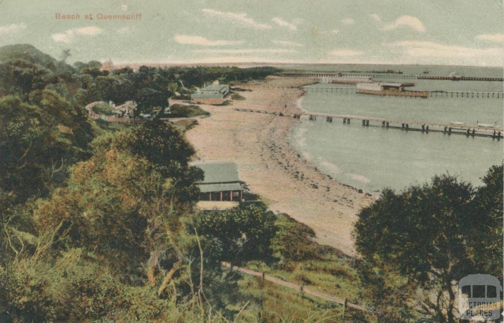 Beach at Queenscliffe, 1900