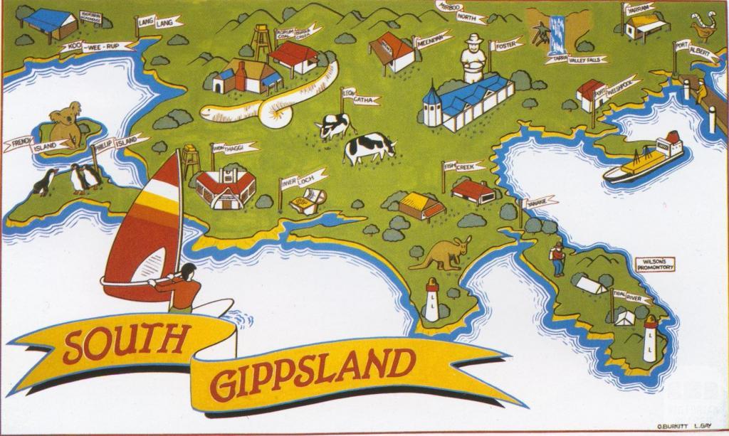 South Gippsland Map