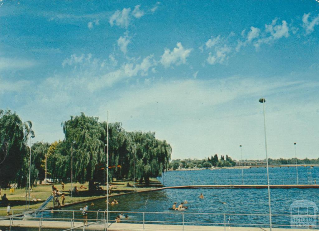 the swimming pool on lake mulwala yarrawonga victorian places