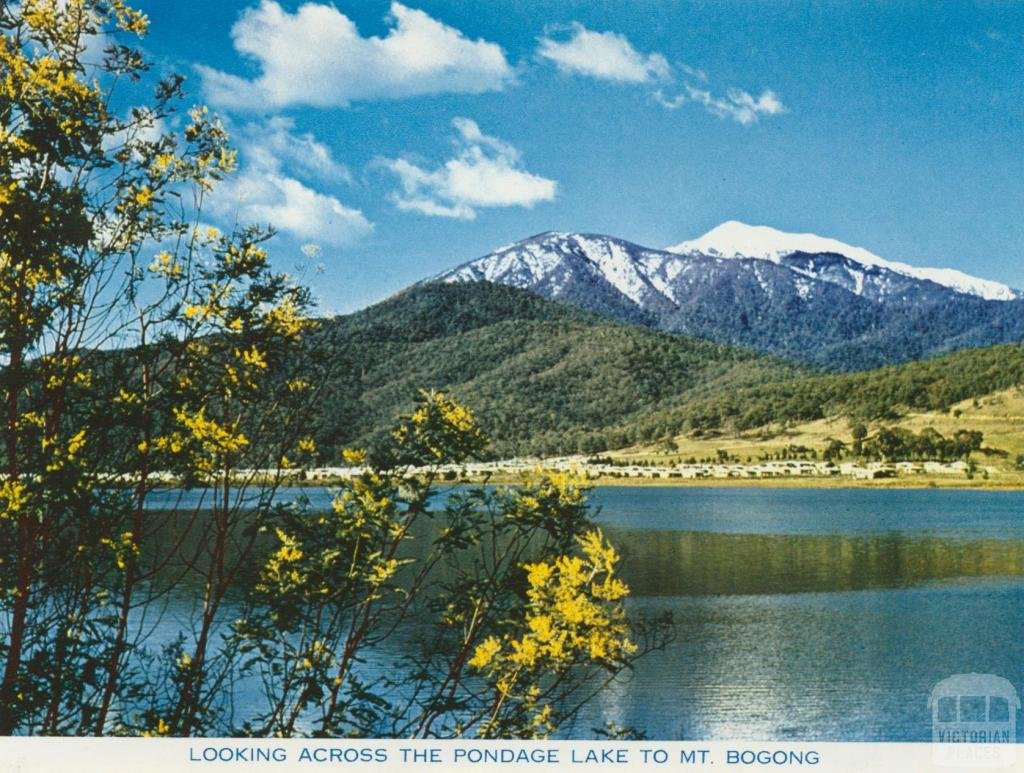 Looking across the Pondage Lake to Mt Bogong