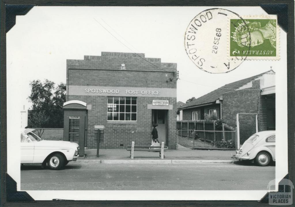Spotswood Post Office, (opened 1882), 1968