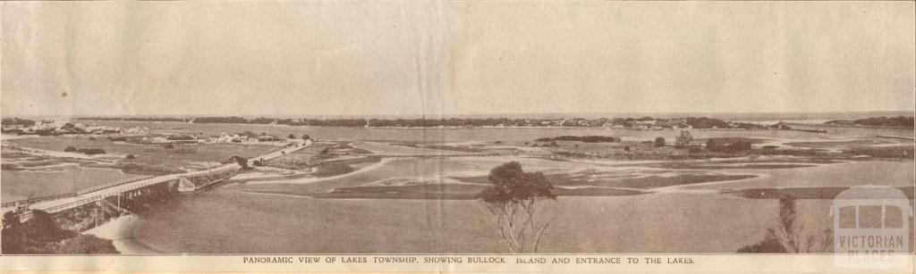 Lakes township, showing Bullock Island and entrance to The Lakes