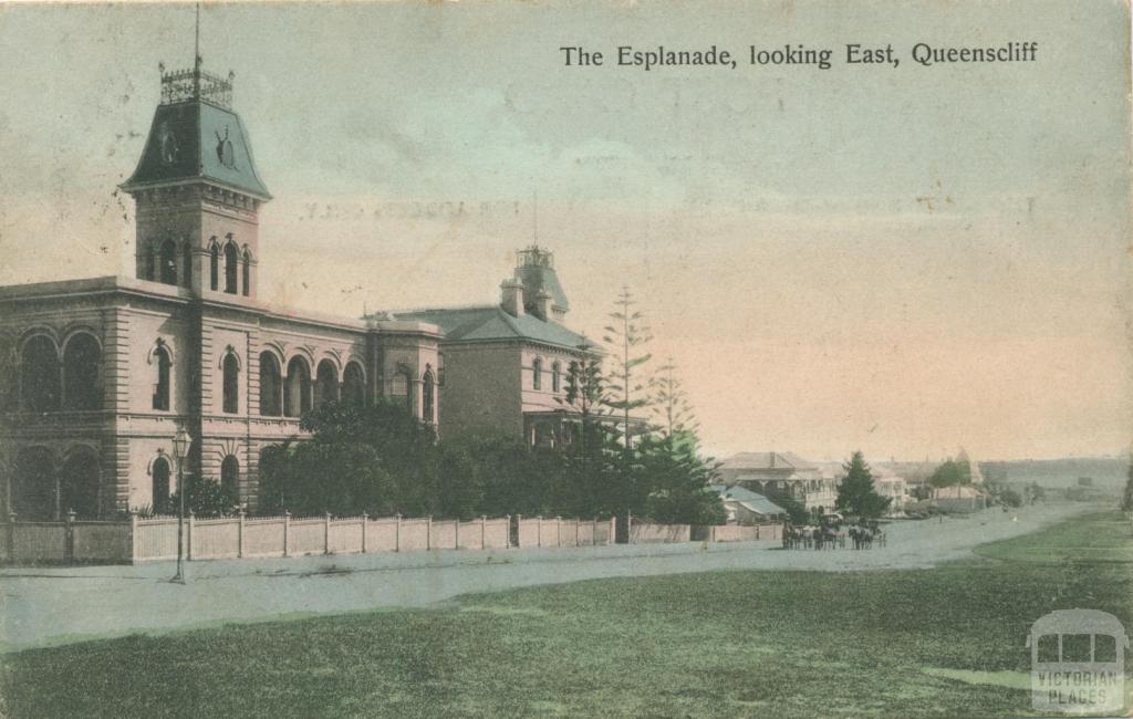 The Esplanade, looking east, Queenscliff, 1907